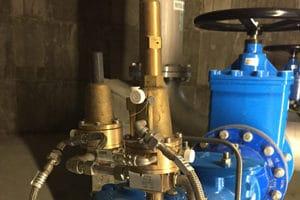 contrôle vanne de régulation d'eau